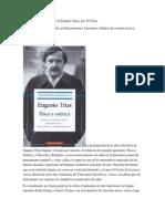 Las creaciones filosóficas de Eugenio Trías