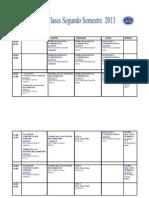 horario modificado segundo semestre PRIMER AÑO