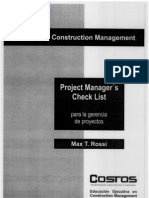 Project Managers Check List