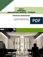 CATEGORIA A35 / ARQUITECTURA INTERIOR - EXTERIOR