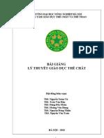 BÀI GIẢNG LÝ THUYẾT GDTC_ 2013