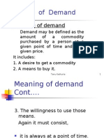 Theory of Demand ME