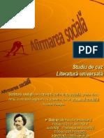 AFIRMAREA SOCIALA - Literatura universala