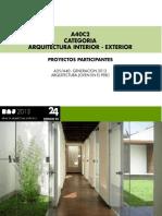 CATEGORIA A40 / ARQUITECTURA INTERIOR - EXTERIOR