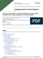 El Elnguaje Juridico de Don Quijote y Sancho