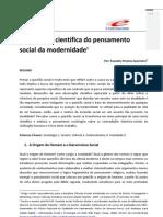 A formação científica do pensamento social da modernidade - Evandro Prestes Guerreiro