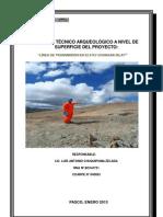 Informe Arqueologico Chungar Islay - Tramo i