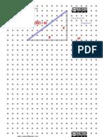 Geoplano IV - Medición de distancias IV -Teorema de Pitágoras