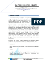 Proposal Kerja Praktek - Ergonomi Teknik Disektor Industri