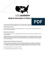 Us a Wrestling Medical Waivers