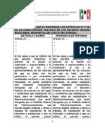 COMPARATIVO INICIATIVA - Reforma Energética