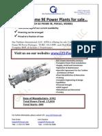 Frame 9e Gas Turbine Plant