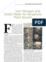 Ammonium Nitrogen and Acidic Water for Xerophytic Plant Growth Journal July 2010 Pp. 176-181