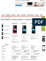 Sony-Xperia comparação