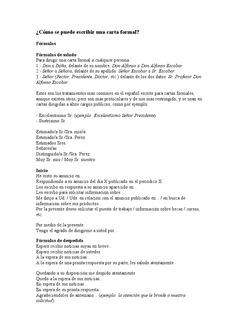 Carta Formal Ejemplo Doc Quotes About V