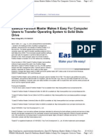 EaseUS Partition Master Makes It Easy for Computer Users to Transfer Operating System to Solid State Drive