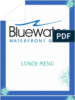 Bluewater Lunch Menu