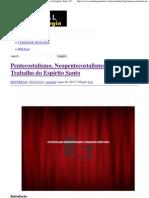 Pentecostalismo, Neopentecostalismo e o Trabalho do Espírito Santo _ Portal da Teologia.pdf