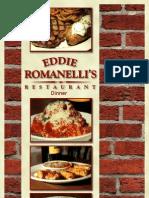 Eddie Romanelli's Leland Dinner Menu