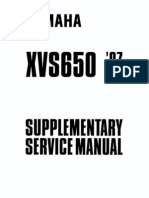 Yamaha xvs650 97 supplementary service manual