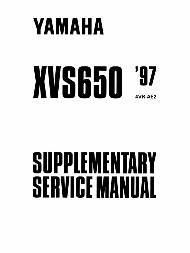 Yamaha Xvs650 97 Supplementary Service Manual Carburetor Machines Zenith Parts Diagram On Exploded