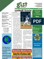 Gist Weekly Issue 27 - Baseball Trivia
