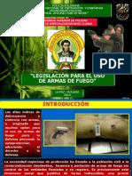 LEGISLACIÓN PARA EL USO DE  ARMAS DE FUEGO - UNIPOL 2013