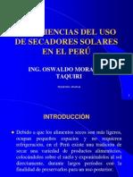 EXPERIENCIAS DEL USO DE SECADORES SOLARES EN EL PERÚ