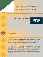 USO DE CALENTADORES SOLARES EN EL PERÚ