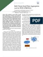 Fault tolerant Multi Cluster head Data Aggregation Protocol in WSN (FMCDA)