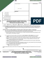 Fl334_declaration Regarding Address Verification-postjudgment Request to Modify a Child Custody Visitation or Child Support Order