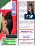 August Flyer Print