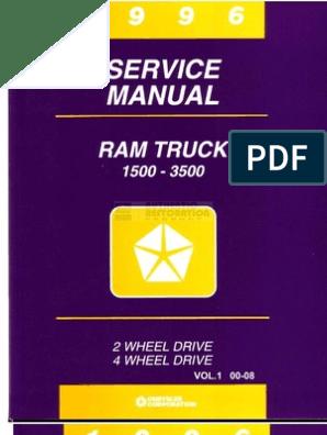 1996 Dodge Ram Service Manual (1) on