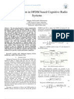 Power Reduction in OFDM based Cognitive Radio