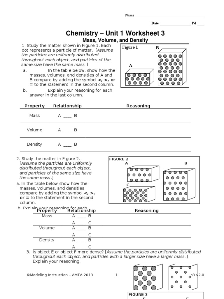 Modeling Chemistry Unit 3 Worksheet 1 Answers Pixelpaperskin – Worksheet Works Answers