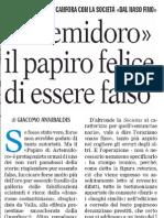Annibaldis - Gazzetta del Mezzogiorno 23 maggio 2009