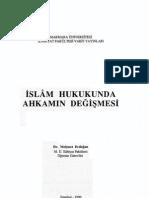 Mehmet Erdoğan İslam hukukunda ahkamın değişmesi 1990