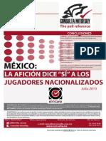 Encuesta Mexico Jugadores Nacionalizados Seleccion