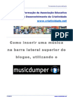 Tutorial inserir música no Blogger
