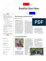 Brookline Quest Newsletter Summer 2009