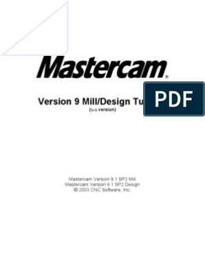 Mill tutorial inch v9. 1 sp2 changes (inch)   machine tool   source.