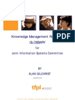 Gilchrist Allan, Knowledge Management Road Map