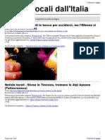 Notizie locali dall'Italia