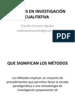 METODOS EN INVESTIGACIÓN CUALITATIVA