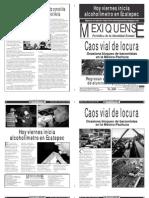 Versión impresa del periódico El mexiquense  16 agosto 2013