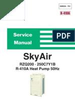 Daikin Sky Air (RZQ200-250C7Y1B) Service Manual