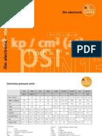 Übersicht und Umrechnung von physikalischen Größen - ifm Fibel (2011)