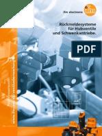 Rückmeldesysteme für Hubventile und Schwenkantriebe - Prospekt 2012