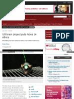 Www Nature Com News Us Brain Project Puts Focus on Ethics 1