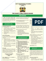 Kiambu County Assembly Service Board  Vacancies.